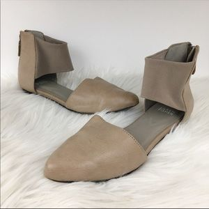 Eileen Fisher Allot leather d'orsay ankle flats